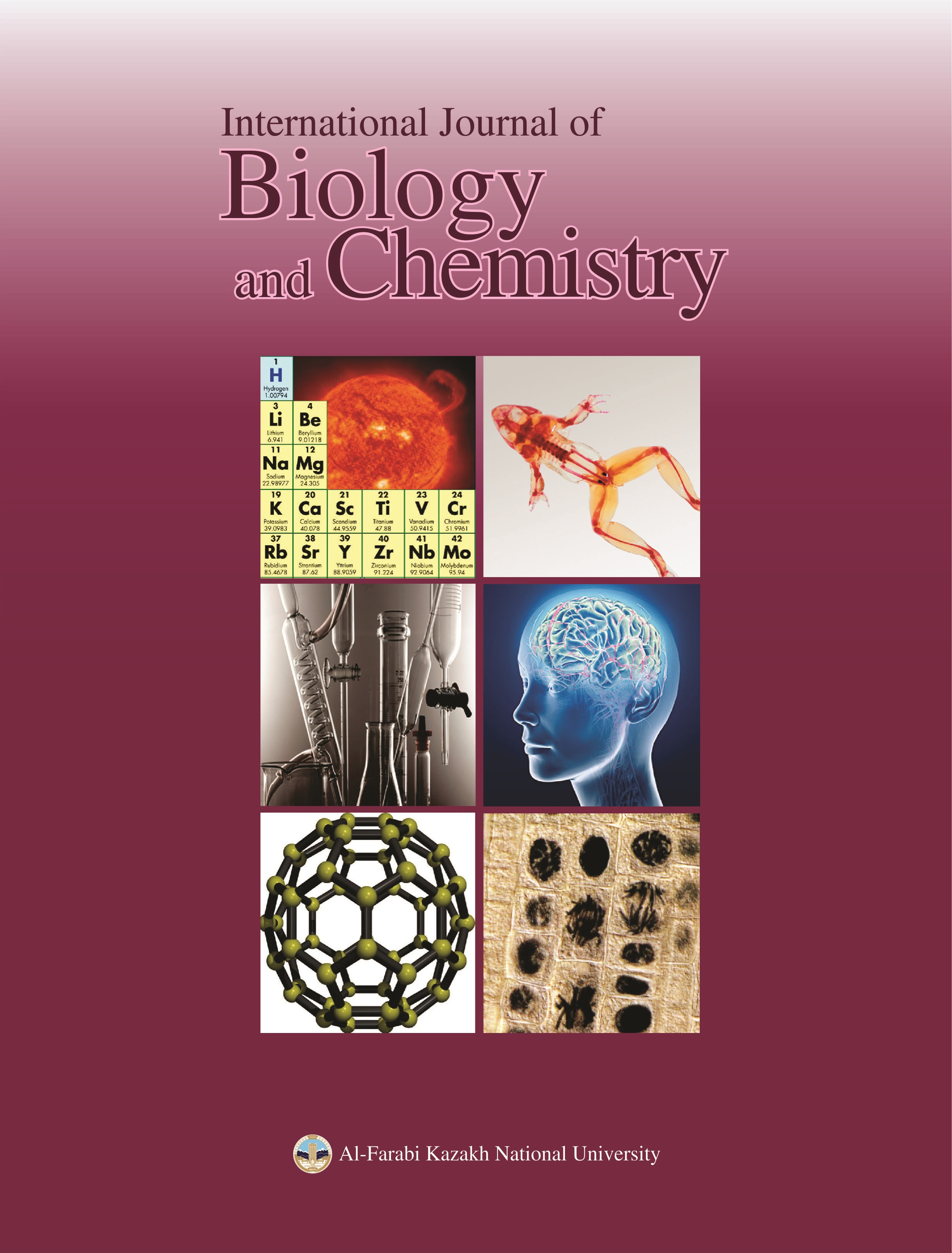 View No. 4 (2012): International Journal of Biology and Chemistry