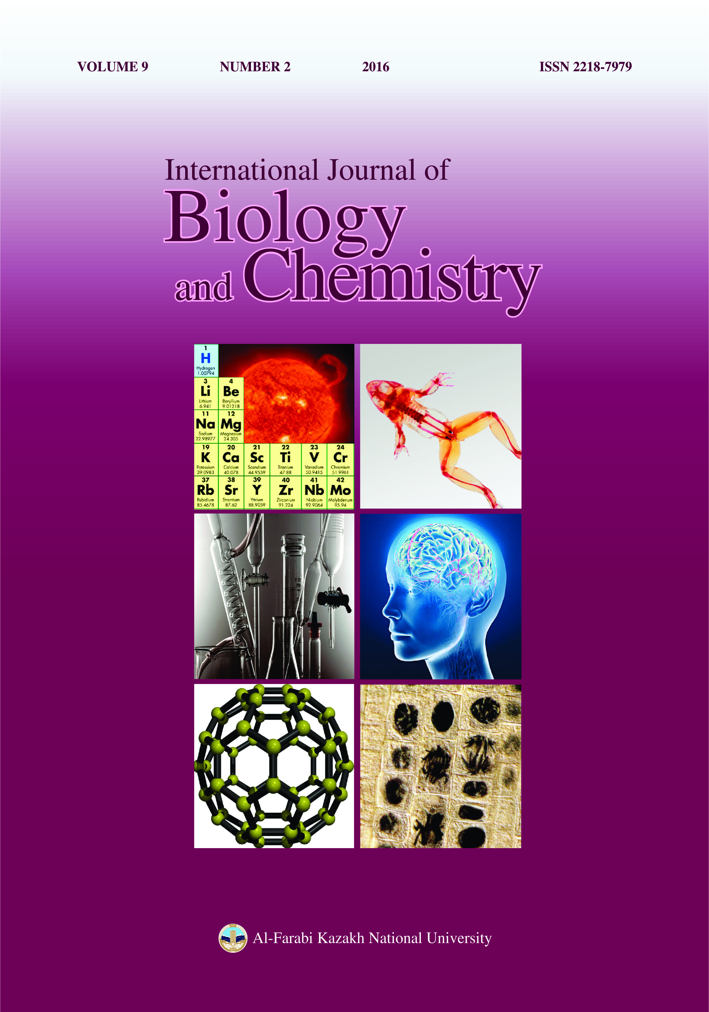 View Vol. 9 No. 2 (2016): International Journal of Biology and Chemistry