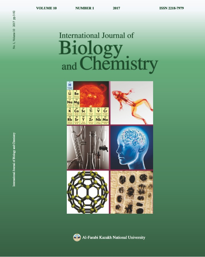 View Vol. 10 No. 1 (2017): International Journal of Biology and Chemistry