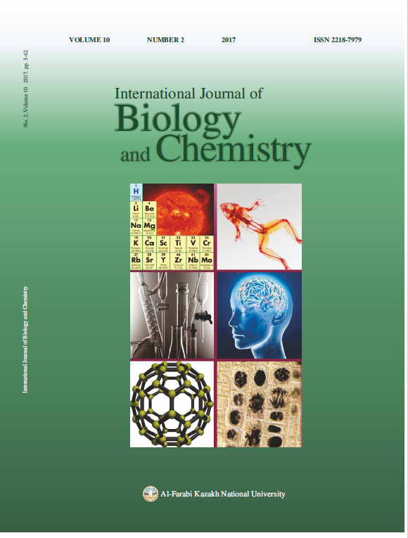 View Vol. 10 No. 2 (2017): International Journal of Biology and Chemistry