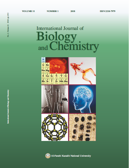 View Vol. 11 No. 1 (2018): International Journal of Biology and Chemistry