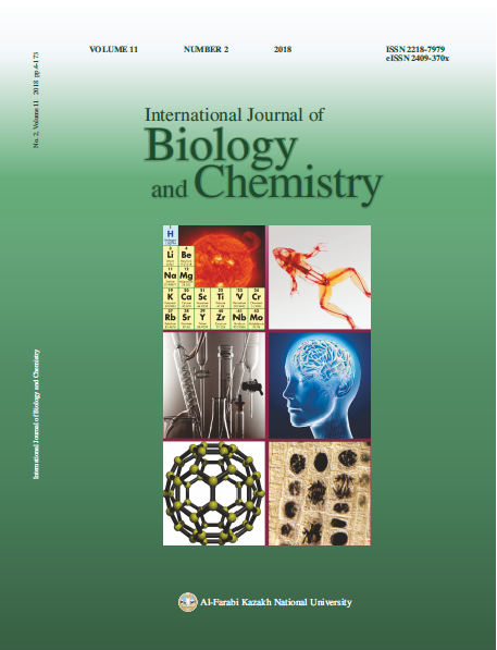 View Vol. 11 No. 2 (2018): International Journal of Biology and Chemistry