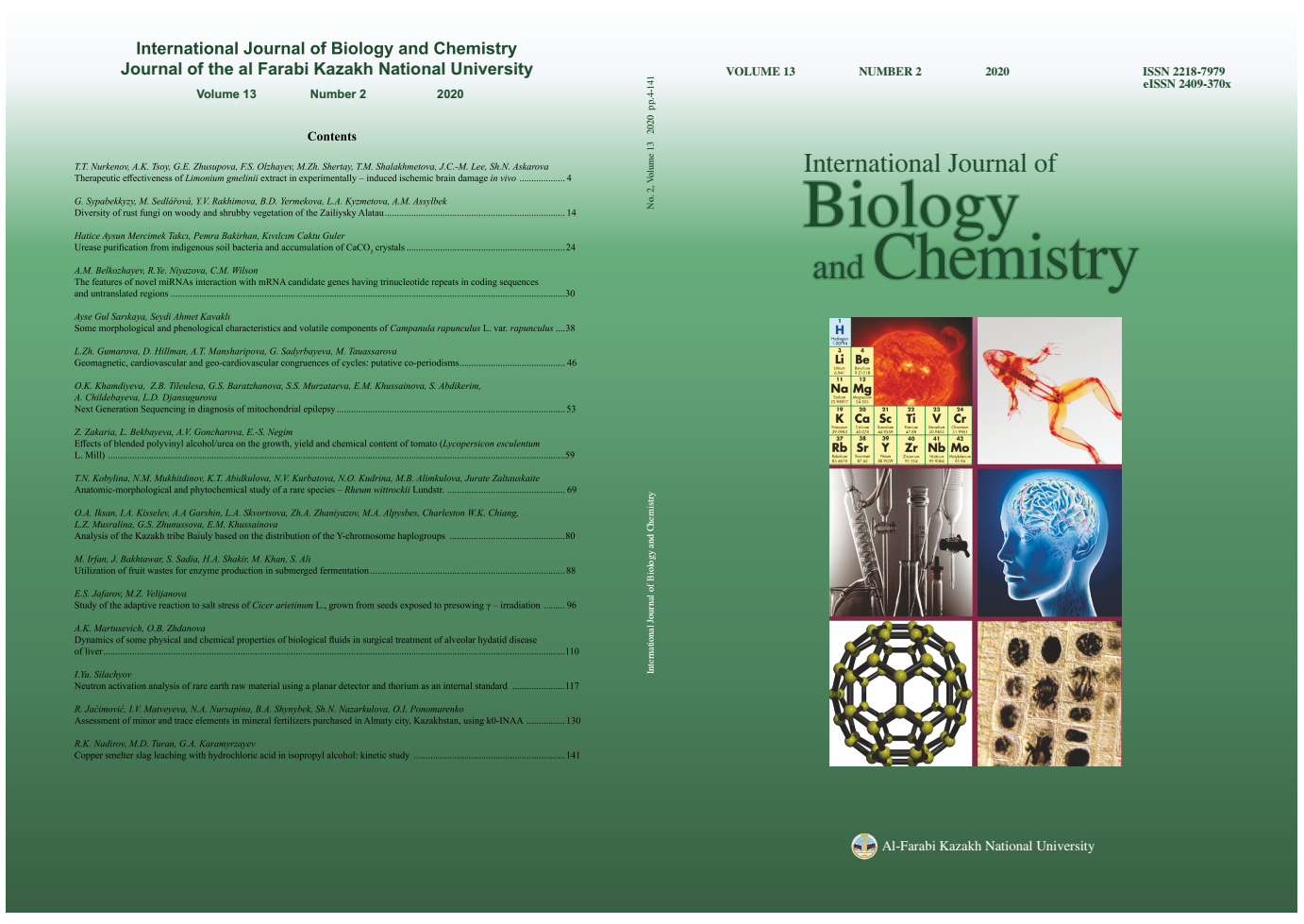 View Vol. 13 No. 2 (2020): International Journal of Biology and Chemistry